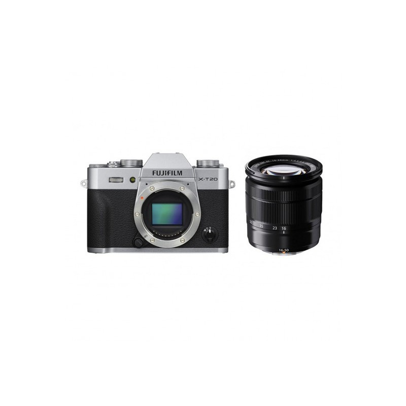 Fujifilm X-T20 Zilver + XC 16-50mm (Ex-Demo)