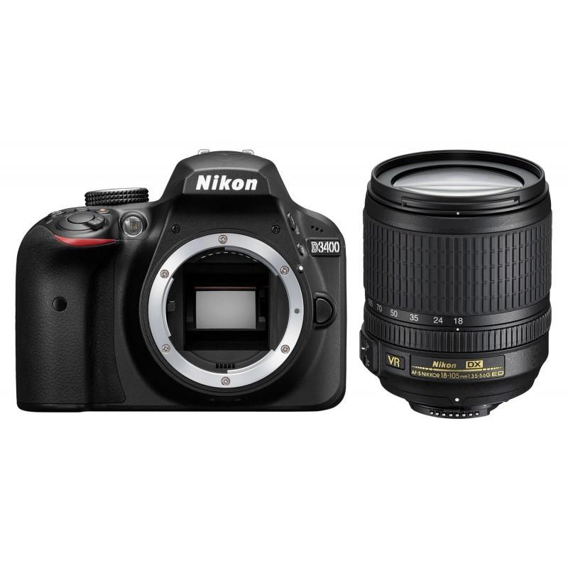 Nikon D3400 Body + AF-S 18-105mm VR