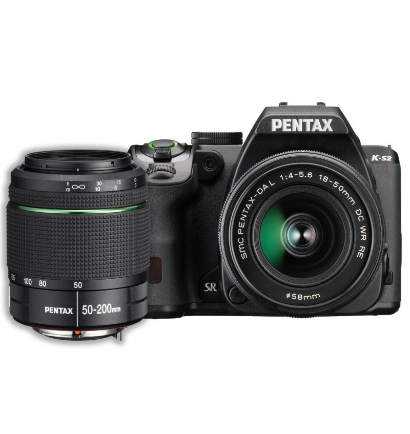 Pentax K-S2 Black + 18-50mm + 50-200mm