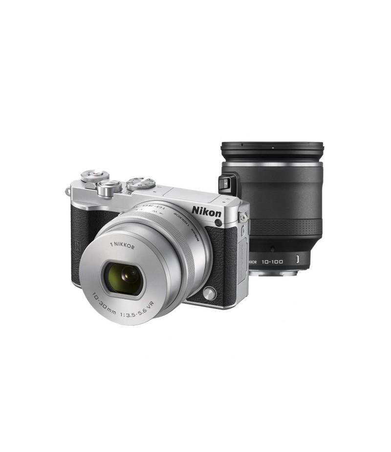 Nikon 1 J5 Silver + 10-30mm + 10-100mm Vlog Kit