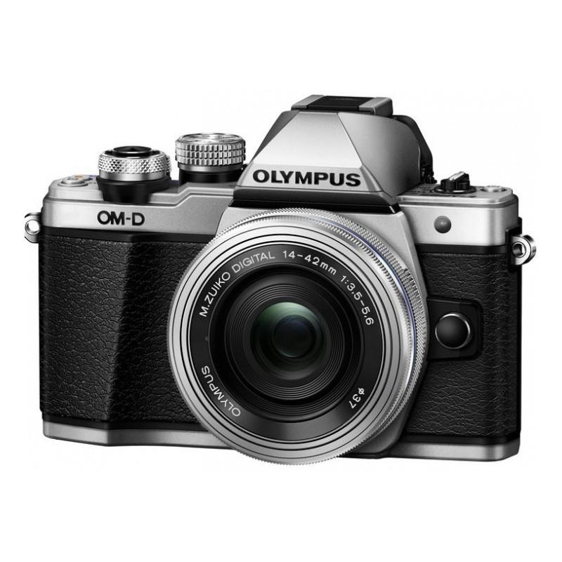 Olympus OM-D E-M10 Mark II Digital Camera Body Silver + 14-42mm EZ