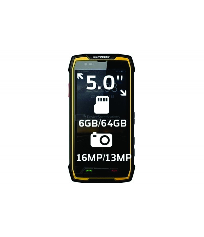 Conquest S11 Rugged Phone Yellow